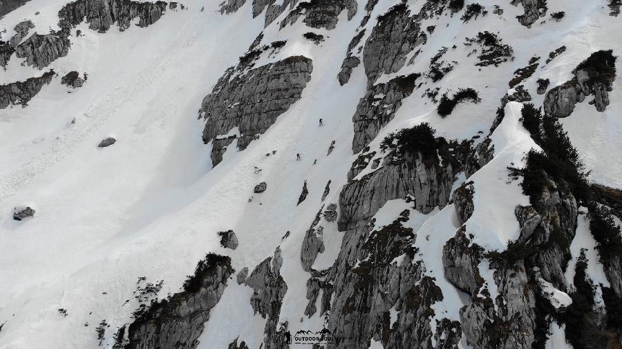 tratto centrale discesa cima sophia
